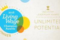 Living Wage Champions Award 2018 Winners Graphic