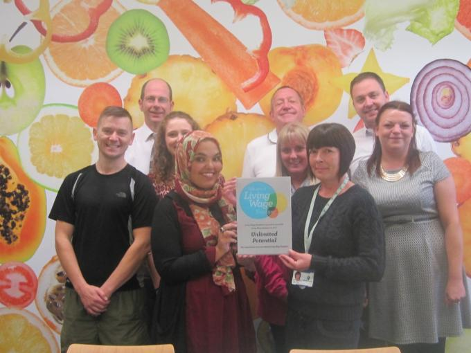 Unlimited Potential shortlisted for the Living Wage Champion Awards